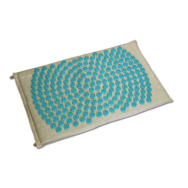 tapis fleur de vie shantimat turquoise