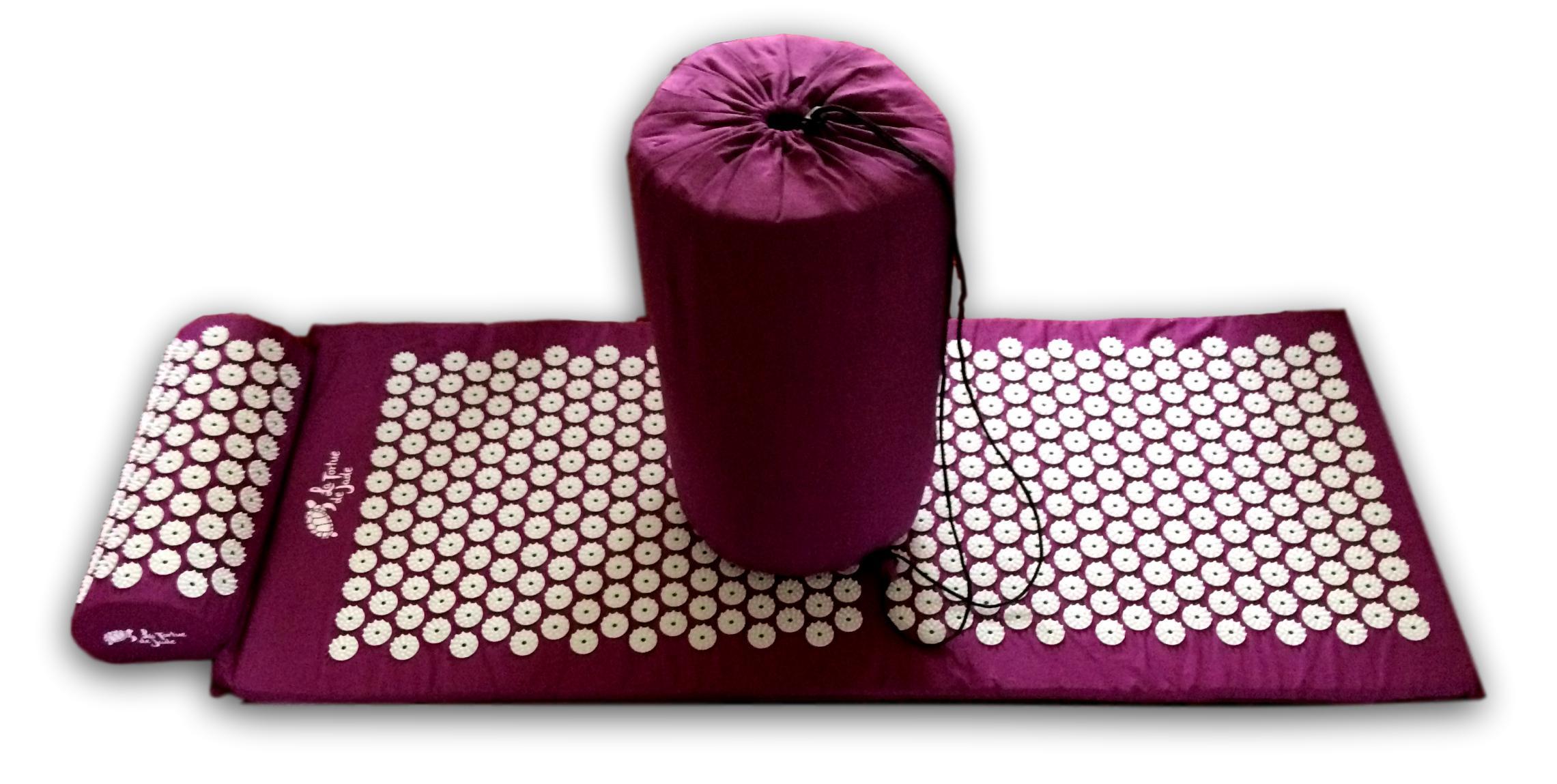 set tapis de fakir coussin sac