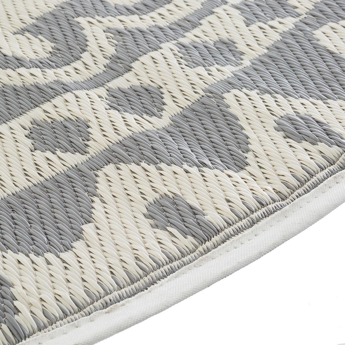 tapis rond exterieur d 150 cm gris