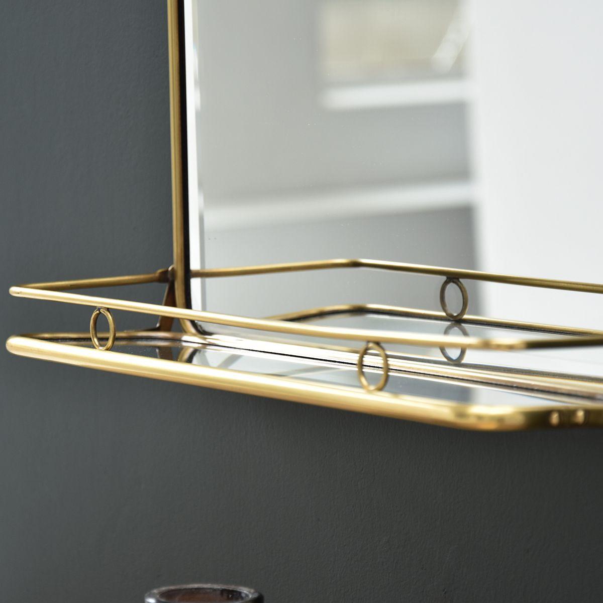 miroir en laiton chaumont