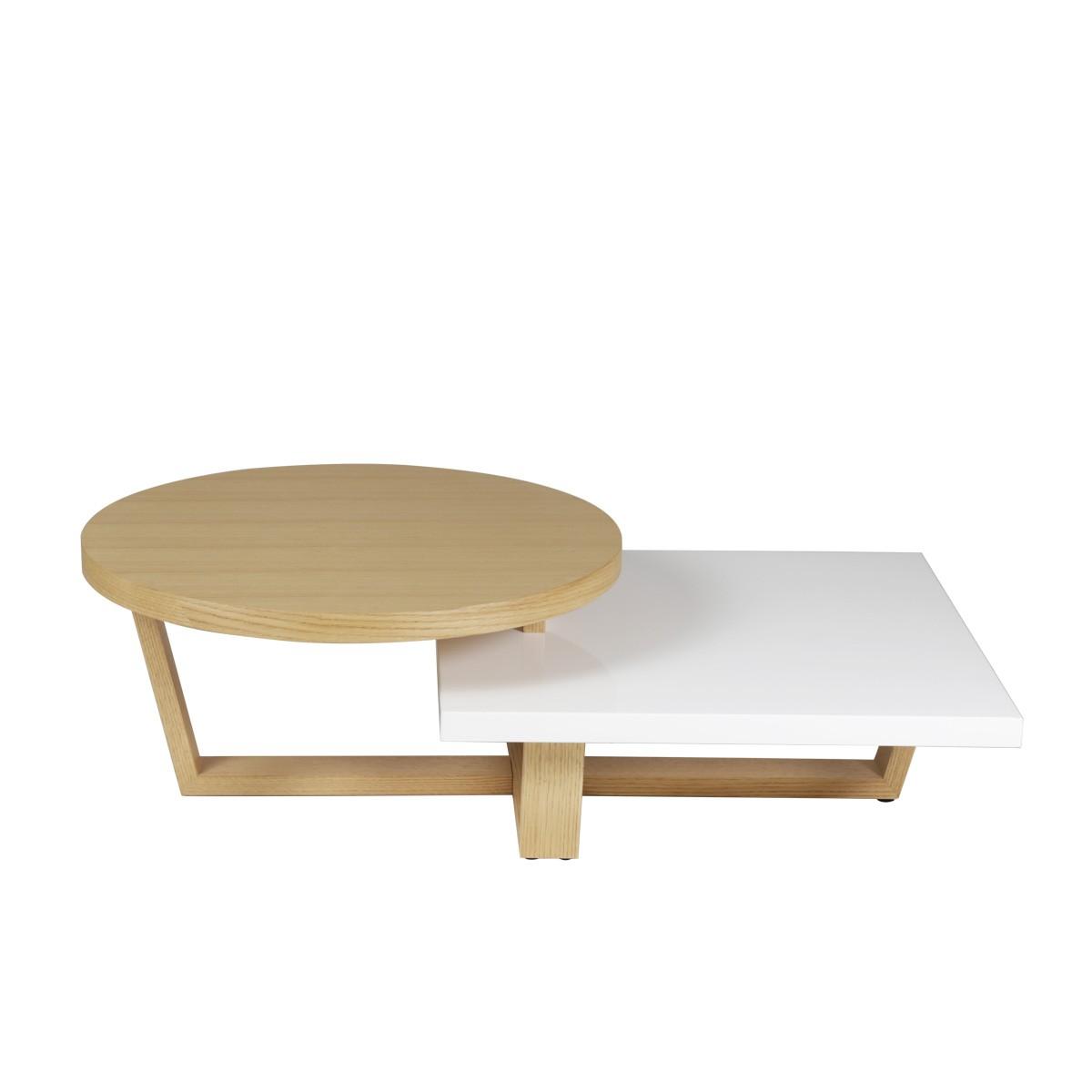 table basse double plateaux plaque chen
