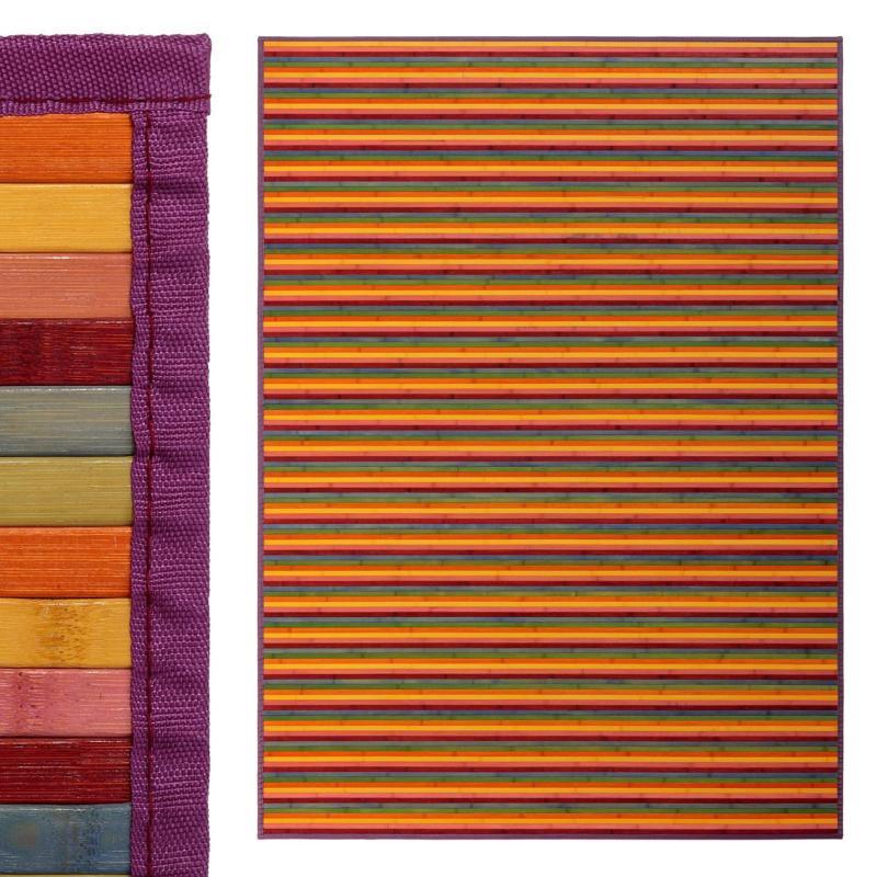 tapis bambou multicolore couleur