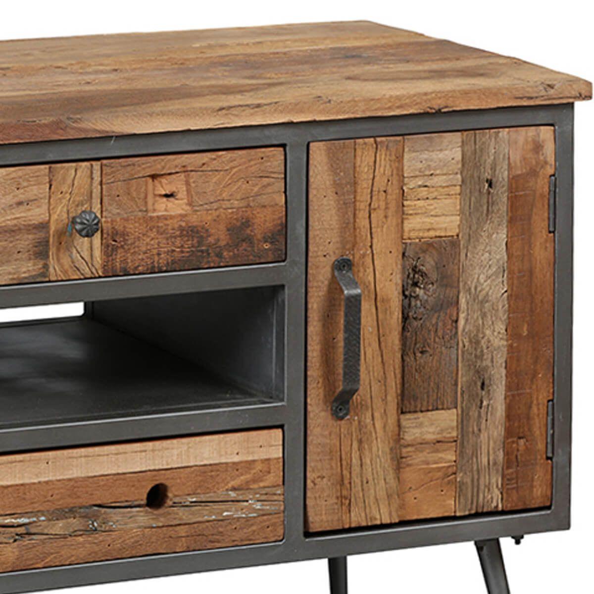 leonard meuble tv 1p 4t acier et bois