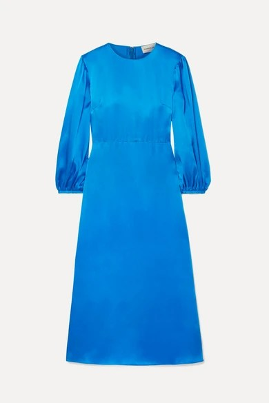 Mansur Gavriel Silk Satin Midi Dress