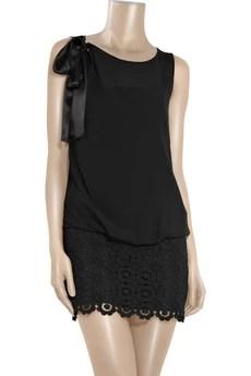 Moschino Cheap and ChicChiffon and lace mini dress