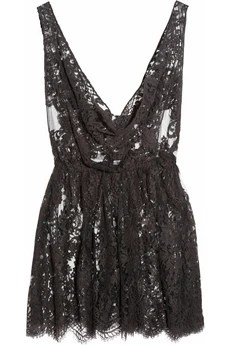Rosamosario - The Kate Moss Mini Chantilly lace chemise