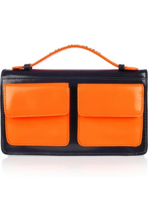 Marc by Marc Jacobs Polished-leather clutch £200