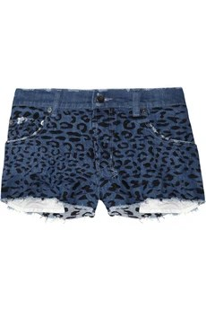 Ksubi Alberceque leopard-embroidered cut-off denim shorts £175