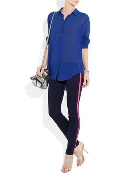 rag & bone JEAN Neon-striped mid-rise skinny jeans £165