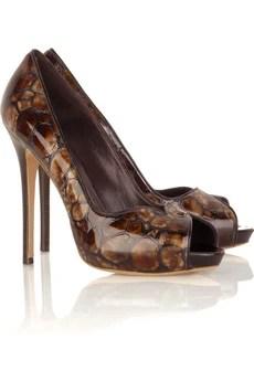 Alexander McQueenStamped leather pumps