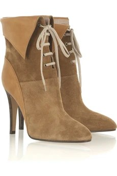 Chloé Suede lace-up ankle boot