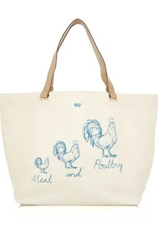 Anya Hindmarch 'Meat and Poultry' canvas tote