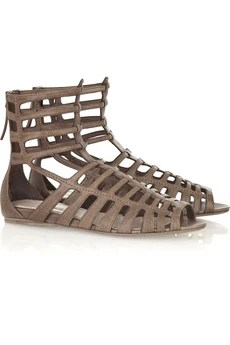 Miu Miu Leather gladiator sandals