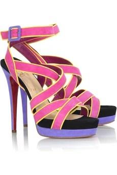Christian LouboutinStraratata 140 suede sandals