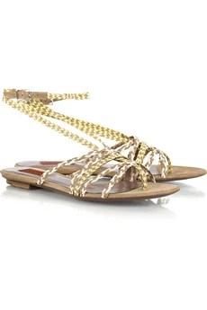 MissoniWoven leather sandals