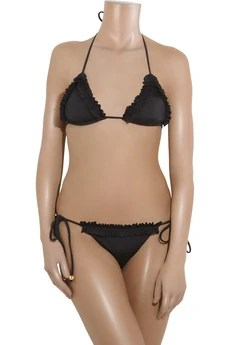 Milly Solid Shimmer Biarritz bikini top