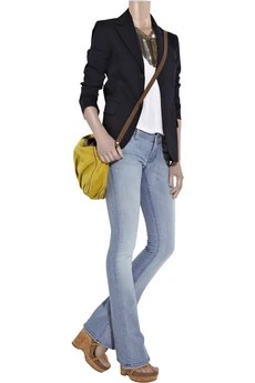 7 for all mankindRocker low-rise skinny bootcut jeans
