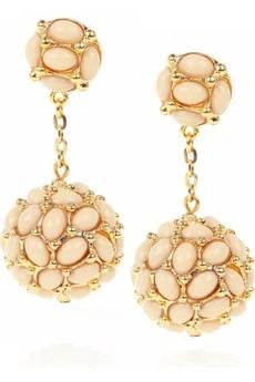 Kenneth Jay Lane22-karat gold-plated droplet earrings