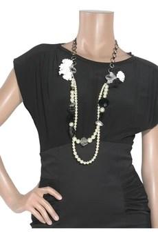 Erickson BeamonSwarovski crystal linen necklace