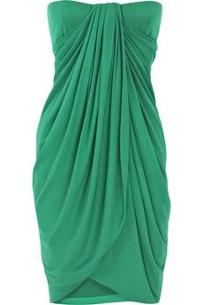 Giambattista Valli | Strapless drape silk dress | NET-A-PORTER.COM