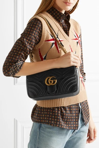 Leather Gucci Belt Black