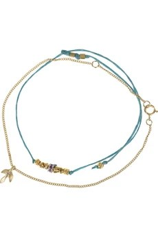 SCOSHA 14-karat gold and fly line bracelet set
