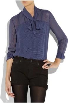 A.P.C.Polka-dot silk blouse
