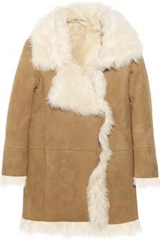 miu miu shearling camel coat