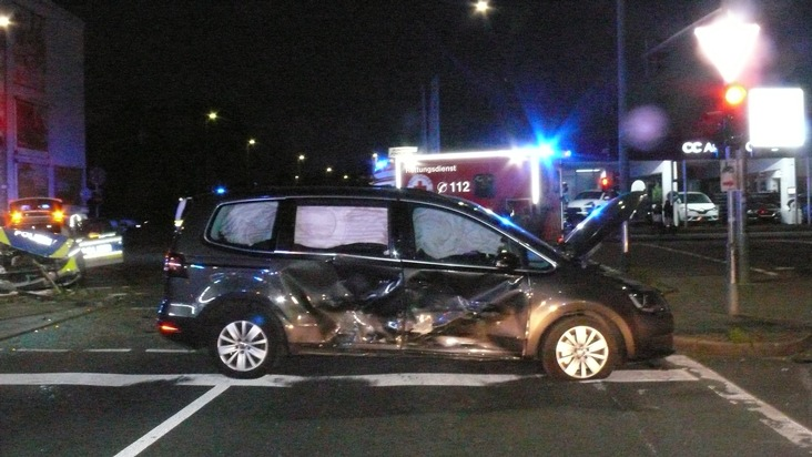 POL-DN: Verkehrsunfall mit Streifenwagen