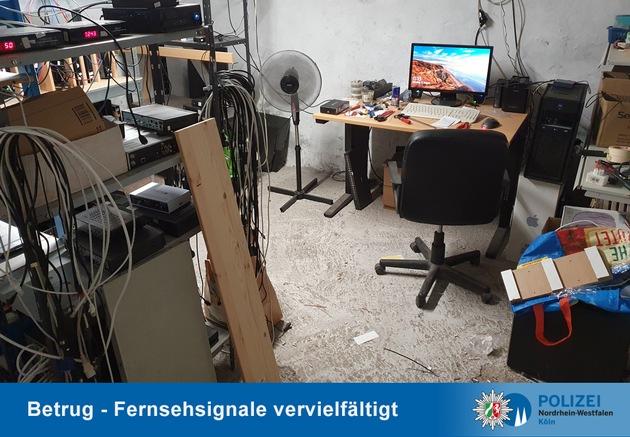 POL-K: 210818-5-K/LEV Fernsehsignal eines Bezahlsenders vervielfältigt - Kripo stellt Übertragungstechnik sicher