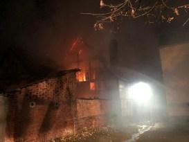 FW Lügde: Großbrand in der Altstadt von Lügde