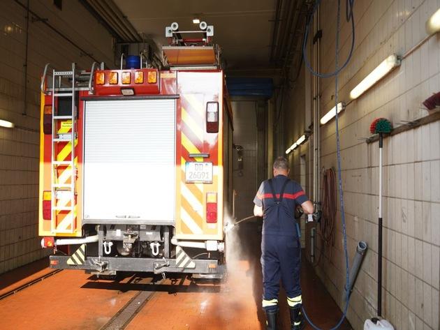 FW Dresden: Rückkehr der Feuerwehrbereitschaft Dresden aus dem Katastrophengebiet in Rheinland-Pfalz