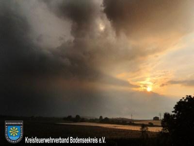 KFV Bodenseekreis: Schwere Gewitter mit Starkregen sorgen für zahlreiche Feuerwehreinsätze im Bodenseekreis