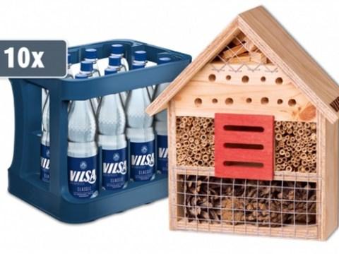 Gemeinsam für die Artenvielfalt: Mit VILSA Insektenhotel gratis sichern und bedrohten Wildbienen & Co. ein Zuhause schenken + 6 Tipps, wie Sie Ihren Garten & Balkon insektenfreundlich machen