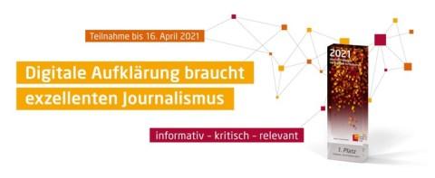Digitale Aufklärung braucht exzellenten Journalismus: HPI lobt Journalistenpreis aus