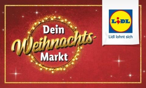 """Lidl-Weihnachtskampagne """"Dein Weihnachtsmarkt"""" zeigt Sortimentsvielfalt in festlichem Ambiente"""