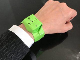 4歳の息子がパパに贈ったのは「視線を集める」手作り腕時計!