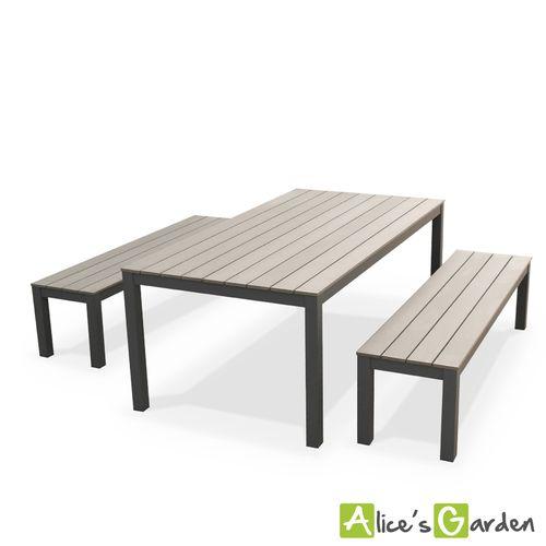Table De Jardin En Bois Avec Banc | Unixpaint