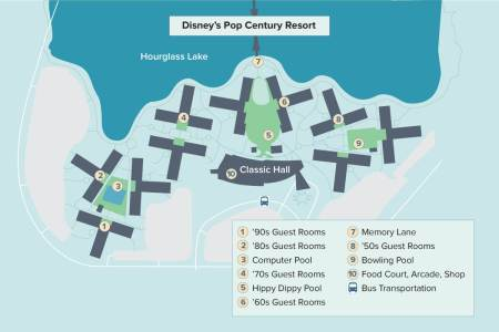 map of standard rooms at pop century » Full HD MAPS Locations ...