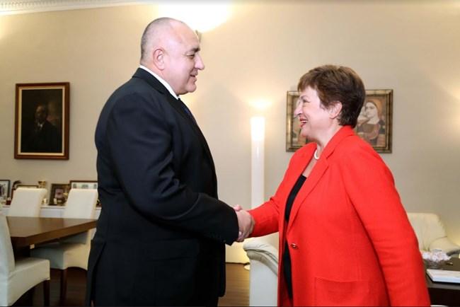 Борисов отчете постиженията ни във фискалната политика пред Кристалина Георгиева (Видео, снимки)