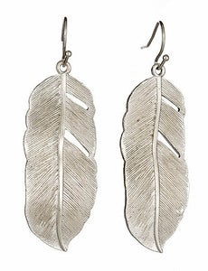 Image of Silver Feather Earrings