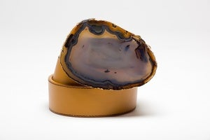Image of Tan Agate Belt Buckle
