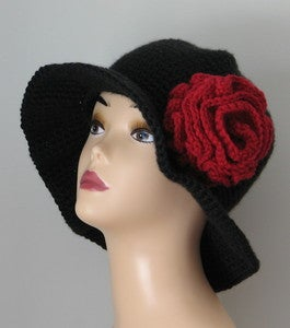 Old Spanish Rose Wide Brim Hat Crochet Pattern PDF 067