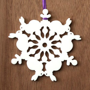 Image of Snow Bunny - Ornament
