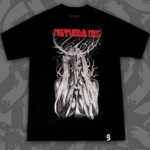 Image of As The World Burns Tee Black/White