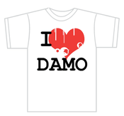 Image of 'I Heart Damo' T-shirt