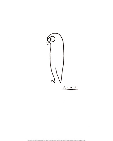 Owl by Pablo Picasso, from allpostersimages.com