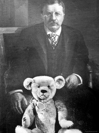 Theodore Roosevelt z pluszowym misiem - www.art.com