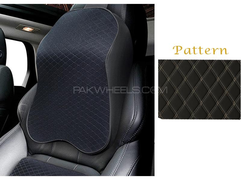 buy car neck back rest long cushion with memory foam black in pakistan