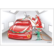 Auto Body And Paint Christmas Cards Paul Oxman Publishing
